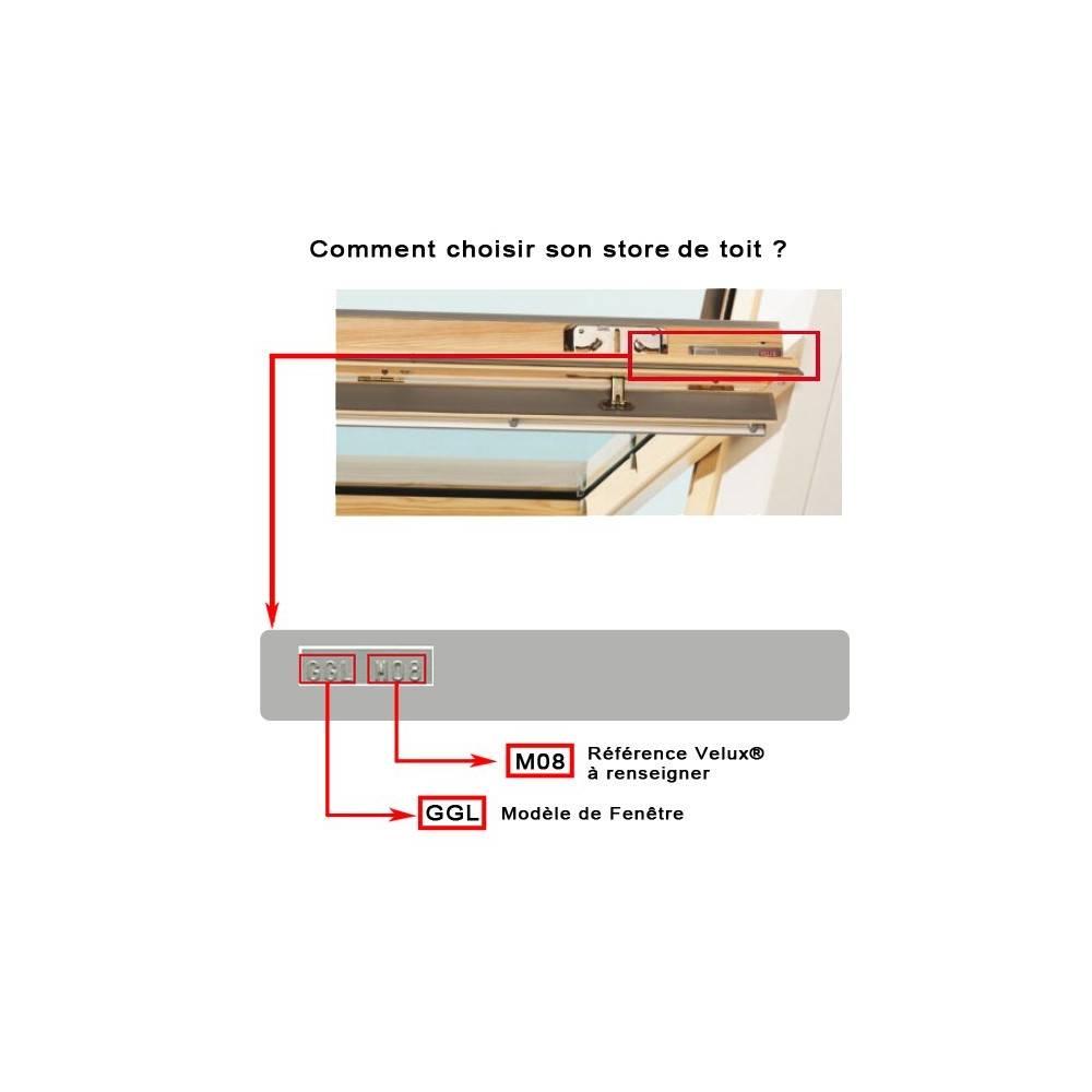 Comment Habiller Un Velux Avec Des Rideaux store de toit duo occultant compatible velux