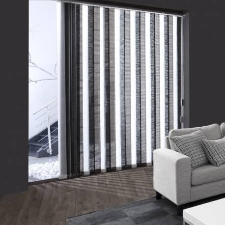 Lamelles verticales tamisant effet bambou noir - Store a lamelle verticale ...