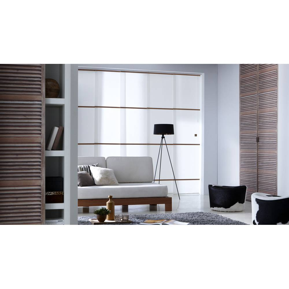 panneau japonais tamisant blanc barres ch ne. Black Bedroom Furniture Sets. Home Design Ideas
