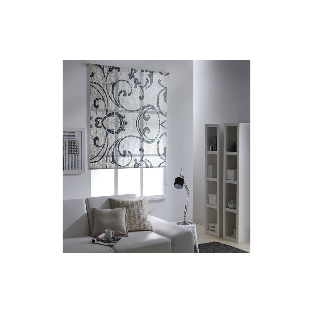 store enrouleur tamisant arabesque gris. Black Bedroom Furniture Sets. Home Design Ideas