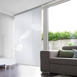Kit 3 Panneaux Japonais Voile Blanc Dévoré Coquelicots