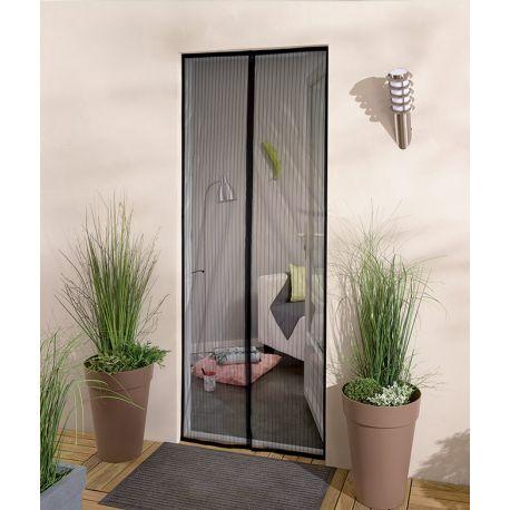 Moustiquaire rideau de porte à clipser