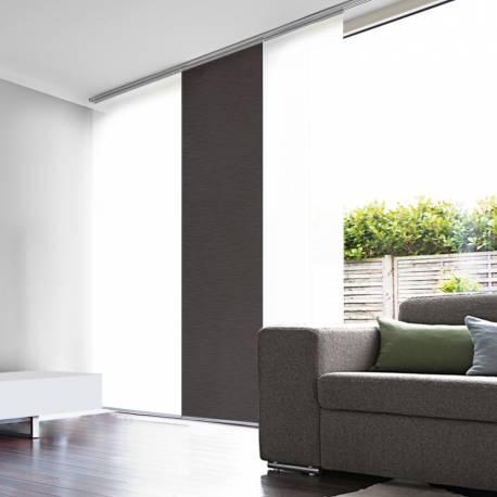 panneau japonais semi occultant chocolat. Black Bedroom Furniture Sets. Home Design Ideas