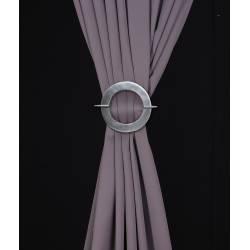 Barrette ronde en aluminium pour rideaux - V.créations
