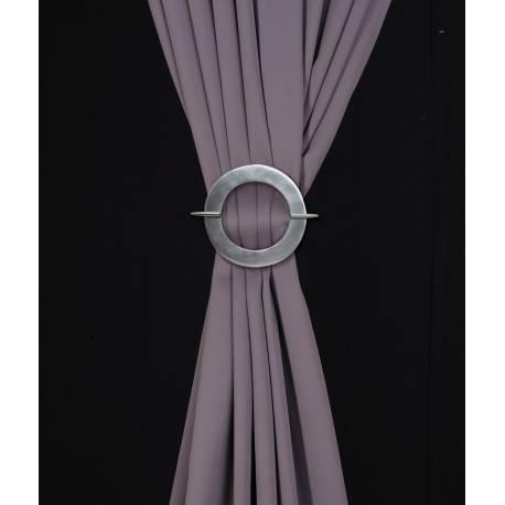 Barette ronde en aluminium pour rideaux - ambiance V.créations