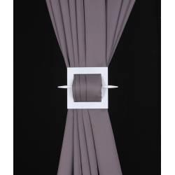 Barrette carrée en bois pour rideaux - V.créations