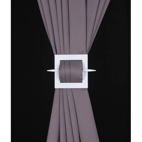 Barette carrée en bois pour rideaux - V.créations