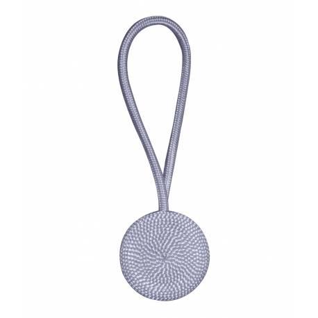 Magnet aimanté rosace en textile pour rideau gris - V.créations