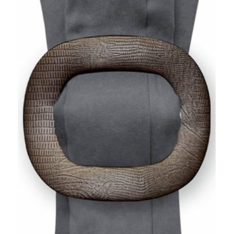 Broche carrée bronze aspect lézard V-créations