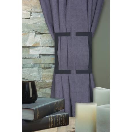 Broche Duplex en bois noir - forme H - V.créations
