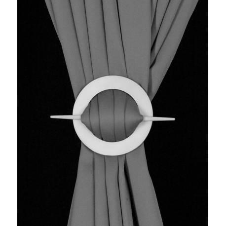 Barrette ronde en bois pour rideaux - V.créations