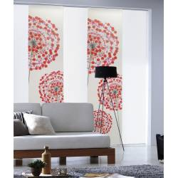 Panneau Japonais Voile imprimé fleurs