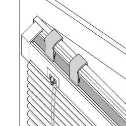 V9 : Fixation Magic Clic pour fenêtre aluminium
