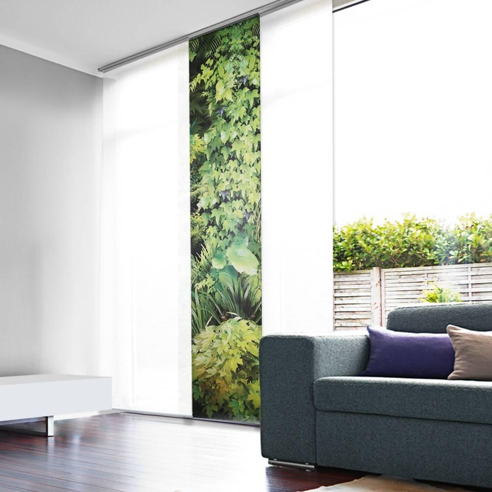 Panneau japonais tamisant trompe l 39 oeil vegetal - Panneau mural trompe l oeil ...