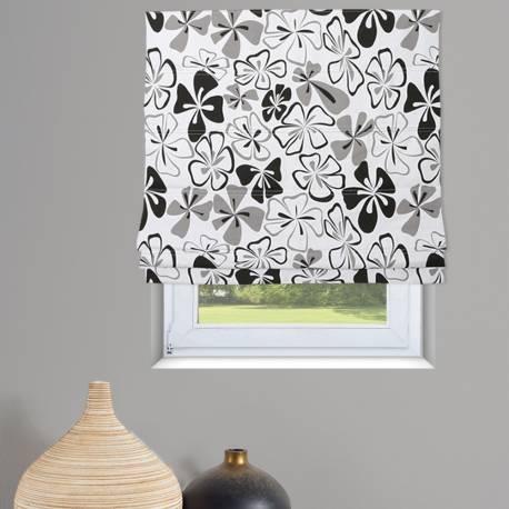 store bateau tamisant imprim fleurs blanc et kaki. Black Bedroom Furniture Sets. Home Design Ideas