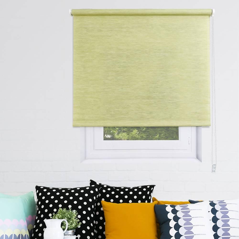 store enrouleur vert pas cher tamisant paille tiss e. Black Bedroom Furniture Sets. Home Design Ideas