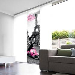 Panneau Japonais Voile Blanc Dévoré enduit Vie en rose Paris