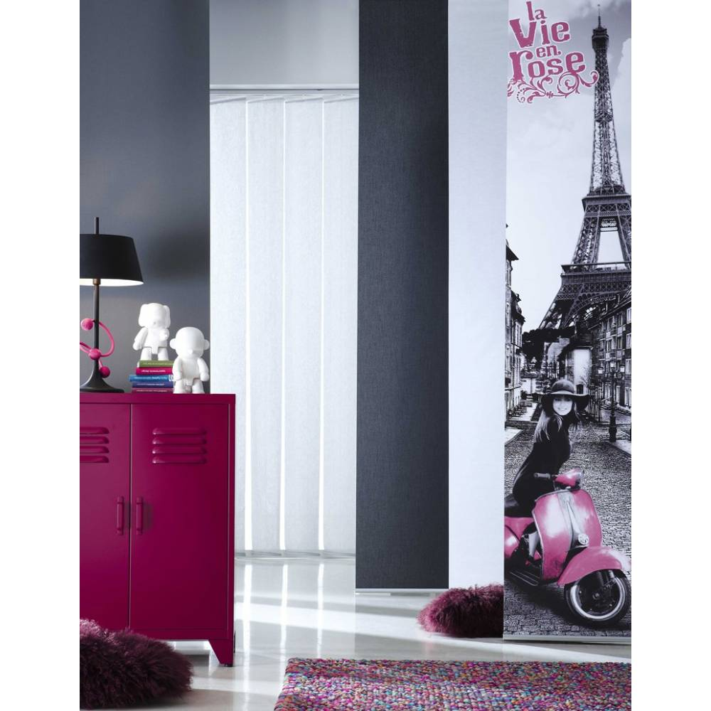 panneau japonais tamisant blanc dvor enduit vie en rose paris with panneaux japonais gris. Black Bedroom Furniture Sets. Home Design Ideas