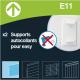E11 : Support autocollant pour store enrouleur Easy
