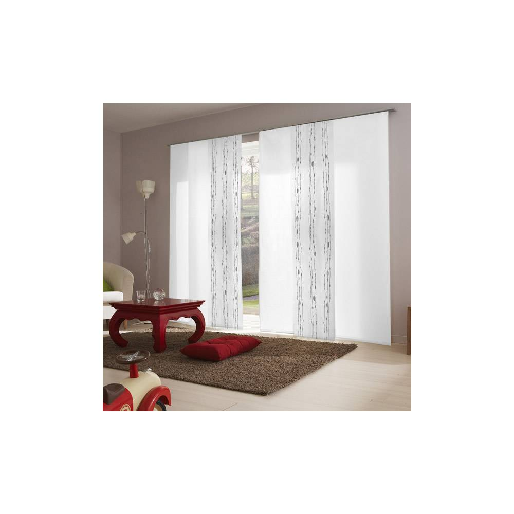 elegant panneau japonais tamisant dvor vagues blanc with panneau japonais 60 cm. Black Bedroom Furniture Sets. Home Design Ideas