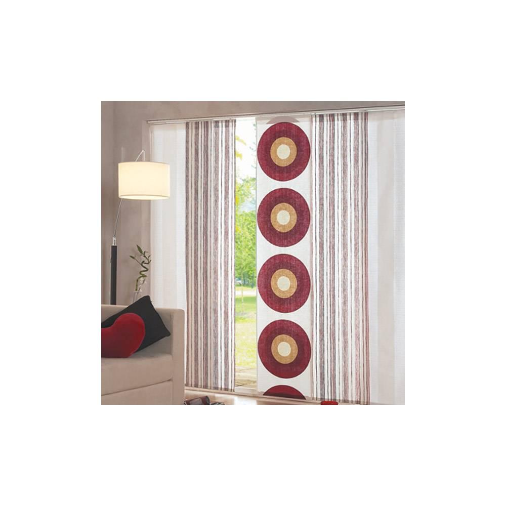 panneau japonais tamisant cercles rouges. Black Bedroom Furniture Sets. Home Design Ideas
