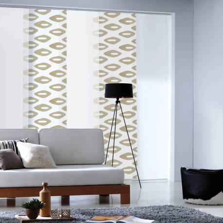 panneau japonais tamisant ikat losanges beige. Black Bedroom Furniture Sets. Home Design Ideas