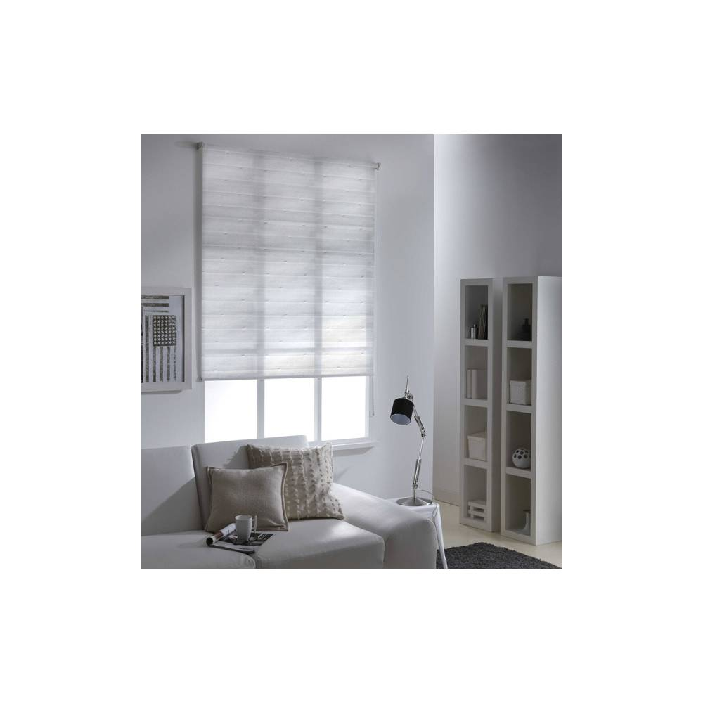 store enrouleur tamisant blanc r glable par chainette. Black Bedroom Furniture Sets. Home Design Ideas