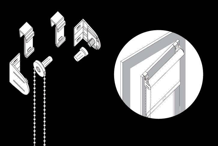store enrouleur sans perage finest rideau occultant sans percer avec store enrouleur un cot. Black Bedroom Furniture Sets. Home Design Ideas